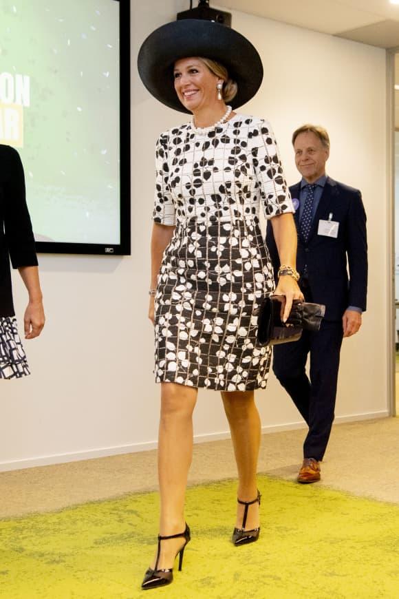 königin maxima outfit jubiläum telefon-stiftung