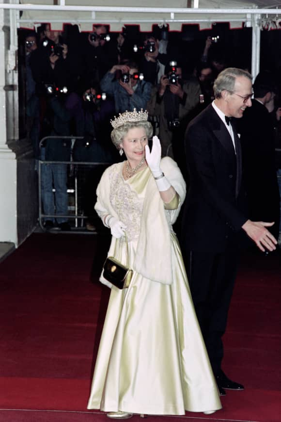 Queen Elizabeth at the Royal Opera House in 1992