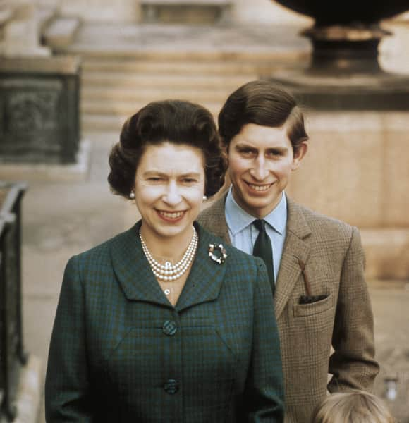Queen Elizabeth II and Prince Charles in June of 1969