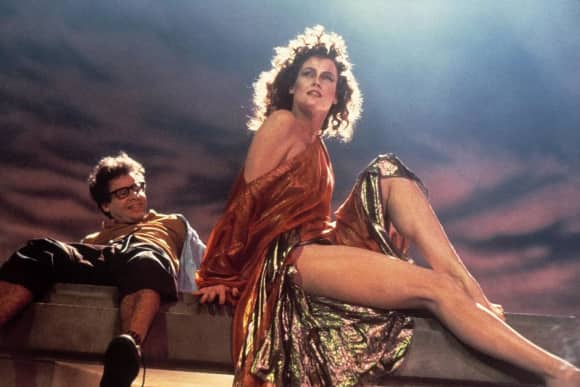 "Rick Moranis and Sigourney Weaver in ""Ghostbusters"""