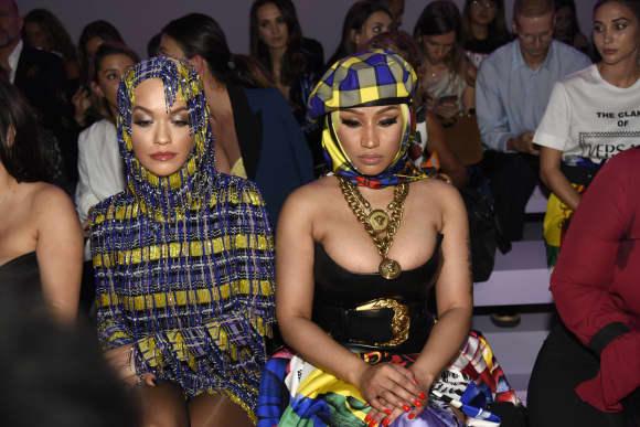 Rita Ora und Nicki Minaj auf der Mailänder Fashion Week