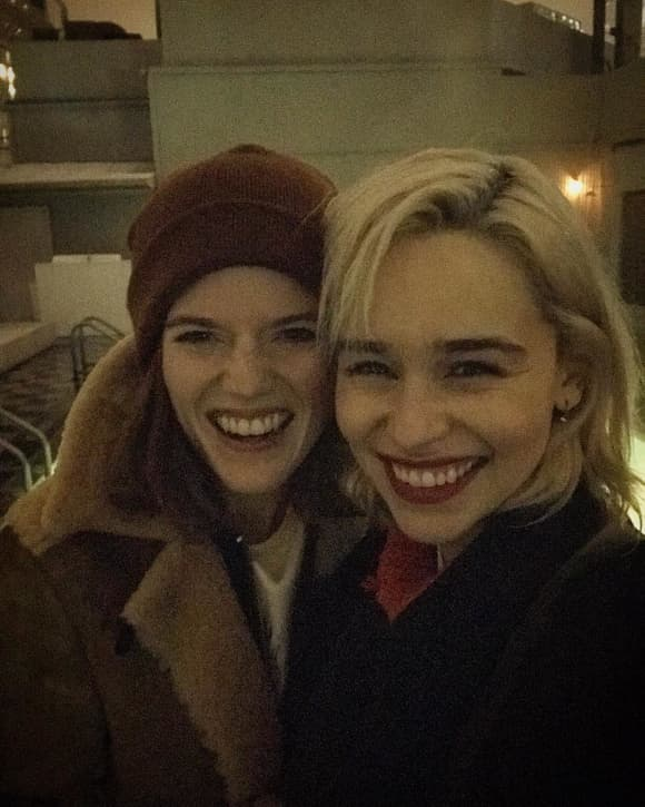 Rose Leslie Emilia Clarke Game of Thrones Girlsnight