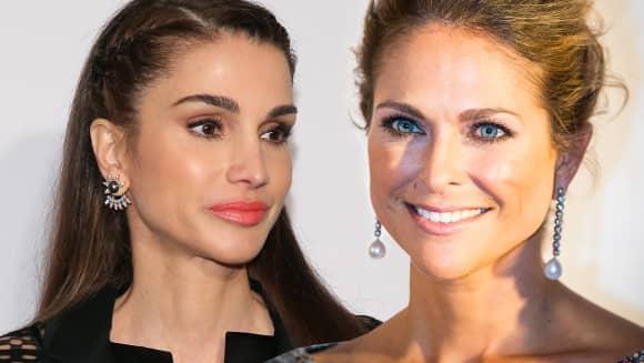 Rania von Jordanien und Madeleine von Schweden zählen zu den 15 schönsten weiblichen Royals