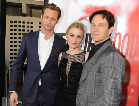 """True Blood"": Alexander Skarsgard, Anna Paquin and Stephen Moyer"
