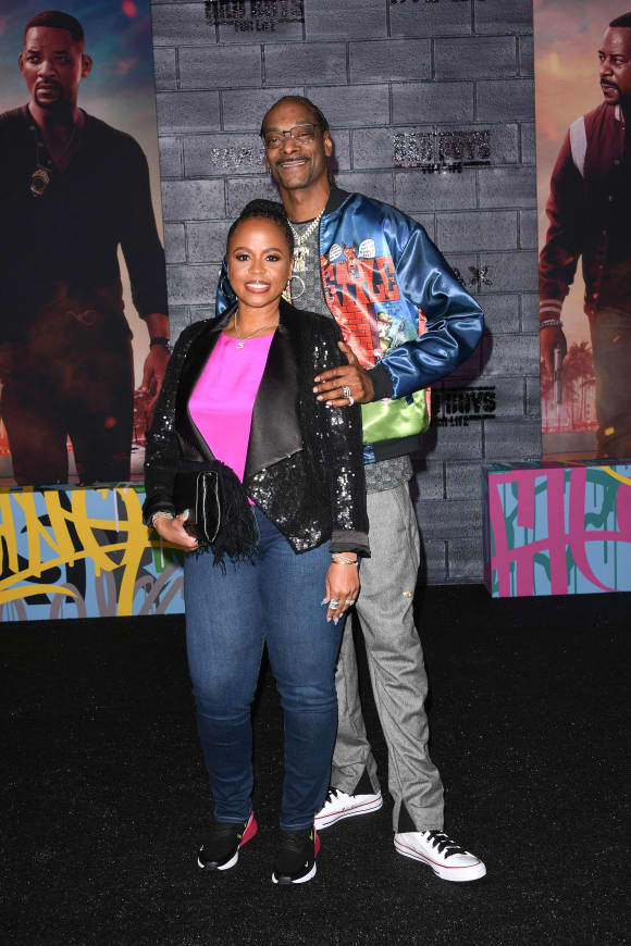 Snoop Dogg mit seiner Ehefrau