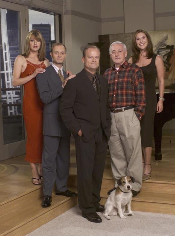"The cast of ""Frasier"" in 2001 Grammer Mahoney Gilpin Hyde Pierce"