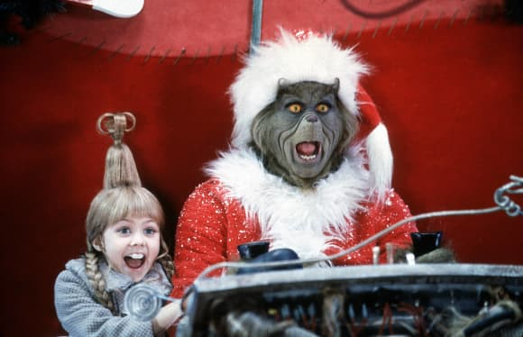 "Taylor Momsen und Jim Carrey in ""Der Grinch"""
