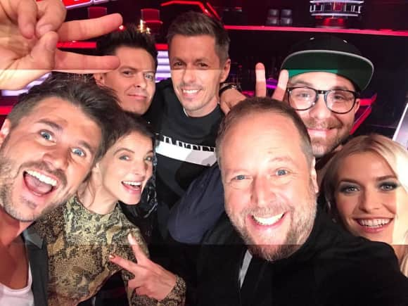 """Die """"The Voice of Germany""""-Coaches Michi Smudo Yvonne Catterfeld Mark Forster Michael Patrick Kelly Lena Gercke Thore Schölermann"""