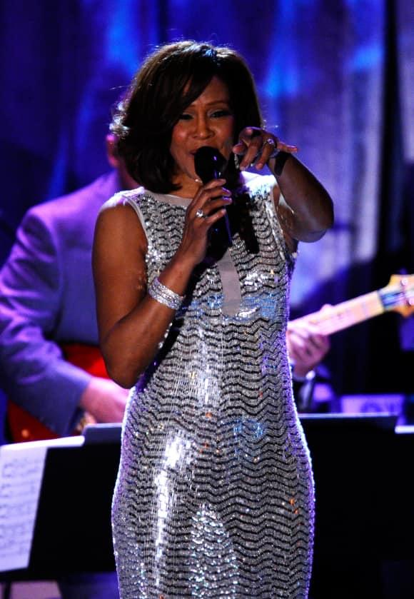 Whitney Houston bei der Pre-Grammy Gala 2011