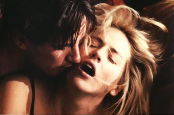"""William Baldwin und Sharon Stone in """"Sliver"""" 1993"""