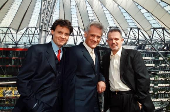 GZSZ-Stars Wolfgang Bahro, Frank-Thomas Mende und Hans Christiani im Jahr 2000