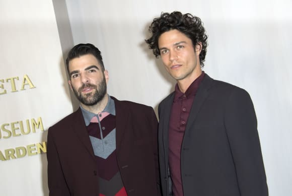 Star Trek-Star Zachary Quinto und Miles McMillan Freund glücklich CSI Crossing Jordan American Horror Story