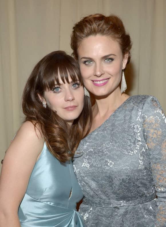Zooey Deschanel und Emily Deschanel sind beide Schauspielerinnen
